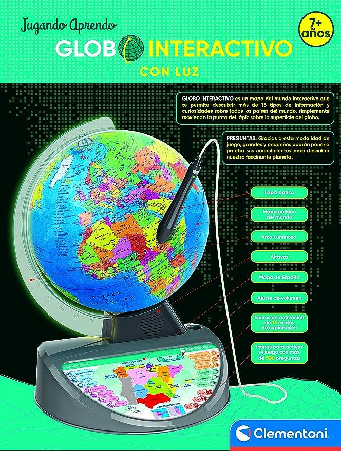 Clementoni Globo Terráqueo Interactivo, 55386: Amazon.es: Juguetes y juegos