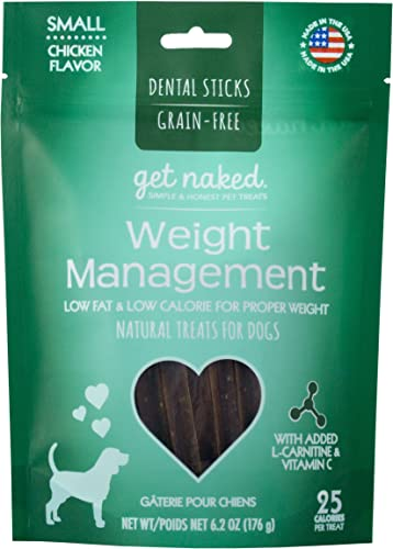 Get Naked Grain Free 1 Pouch 6.2 Oz Weight Management Dental Chew Sticks, Small