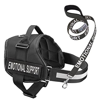 Amazon.com : Service Dog Vest Harness with EMOTIONAL SUPPORT Patches