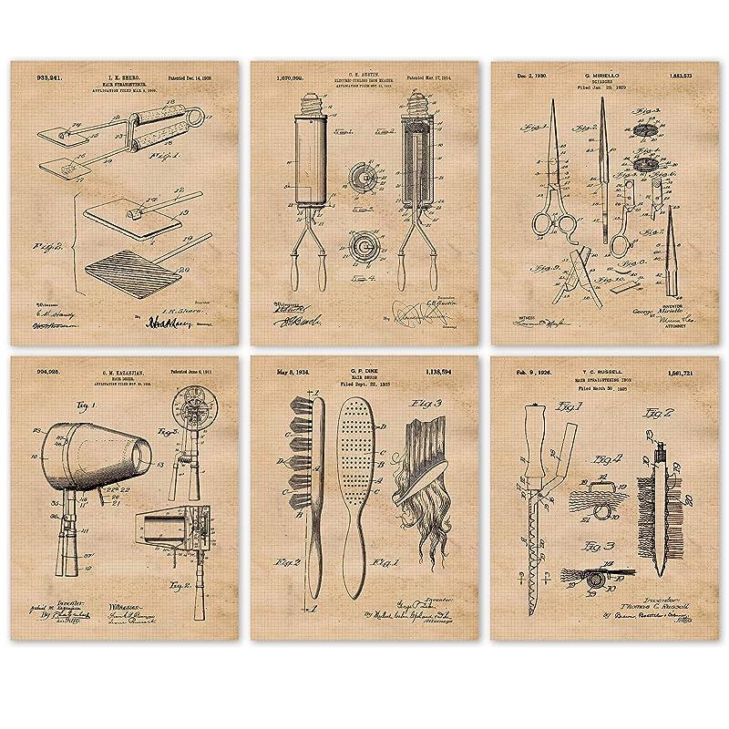 USA Patent Drawing PAINT BRUSHES hair DIY tool MOUNTED PRINT 1873 Xmas Gift