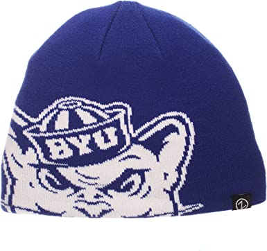 NCAA Zephyr Byu Cougars Mens Cuff Knit Beanie Team Color Adjustable