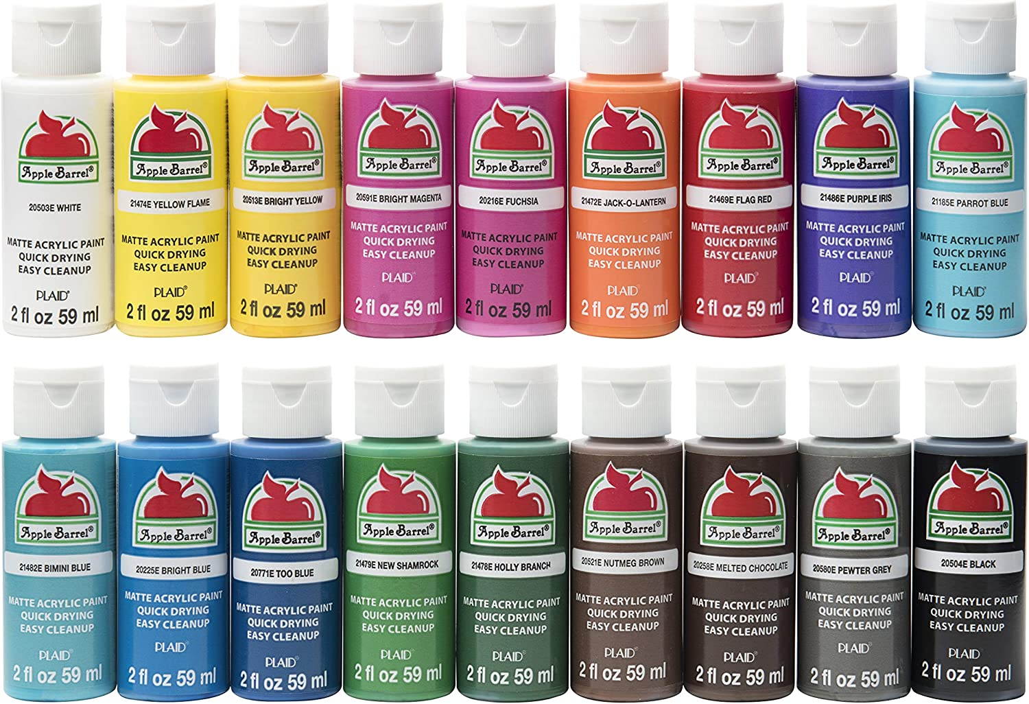 Apple Barrel Matte Finish Acrylic Craft Paint Set