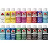 Apple Barrel PROMOABI 18pc Matte Finish Acrylic Craft Paint Set, Assorted Colors 1, 18 Count