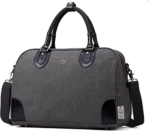 Troop London Classic Canvas Holdall Top Handle Bag Great For Travel Gym TRP0262