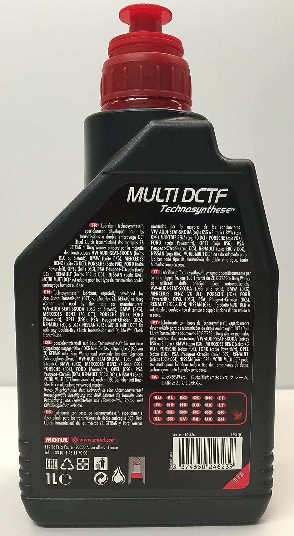 MOTUL Pack Aceite Cajas DSG Multi DCTF 6 litro (G052182A2) + Filtro Original 02E305051 + Transmission Clean 500ml: Amazon.es: Coche y moto