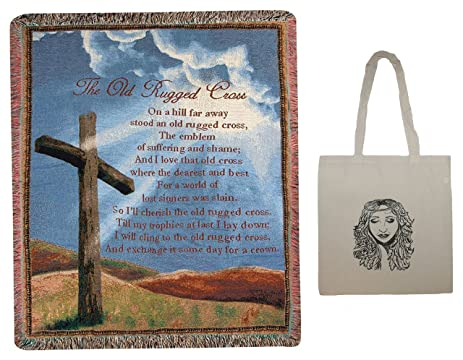 Old Rugged Cross 50quotx60quot Inspirational Tapestry Throw And Tote