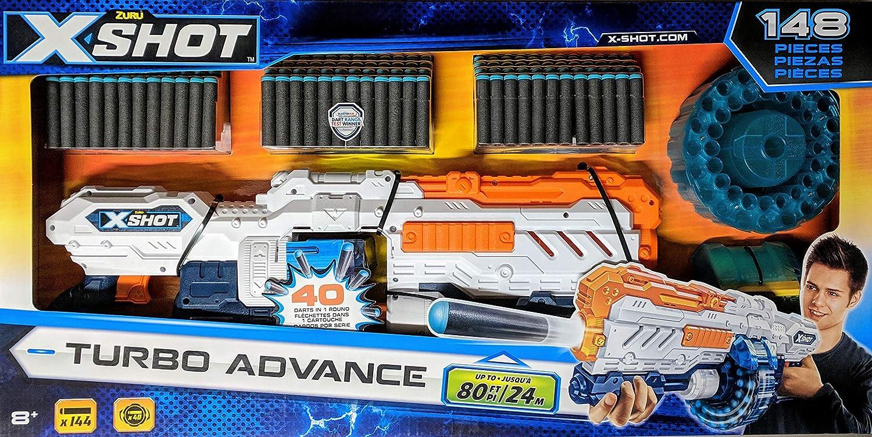 Amazon.com: Zuru X-Shot Turbo Advance Dart Blaster 148 Pieces: Toys & Games
