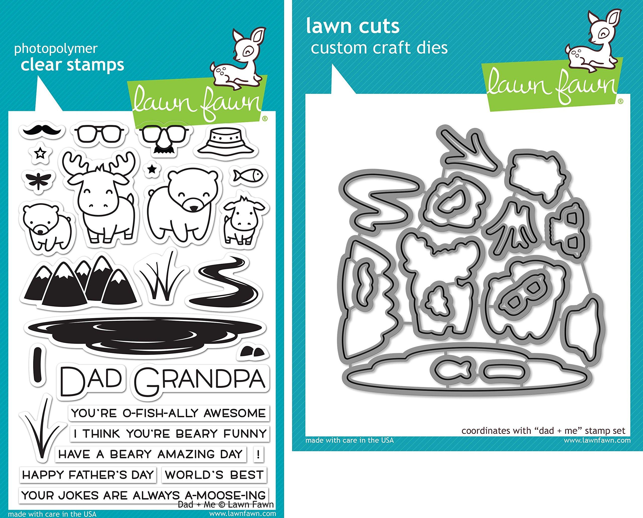 Lawn Fawn Dad + Me Stamp and Die Set - Two item Bundle