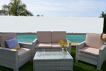KieferGarden Florida Blanco conjunto muebles de jardín y ...