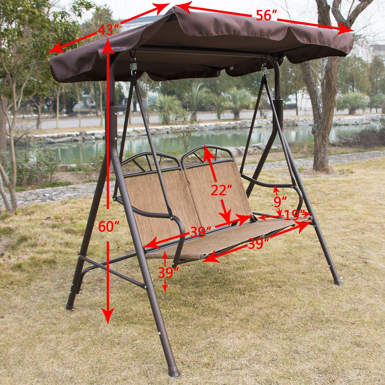 Limites ventas bestMart Inc 2-person nuevo Canopy Cubierta Swing ...