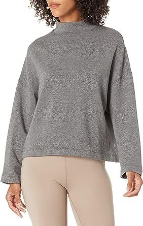 Amazon Brand - Core 10 Women's Cloud Soft Yoga Fleece Mock Dolman Sweatshirt