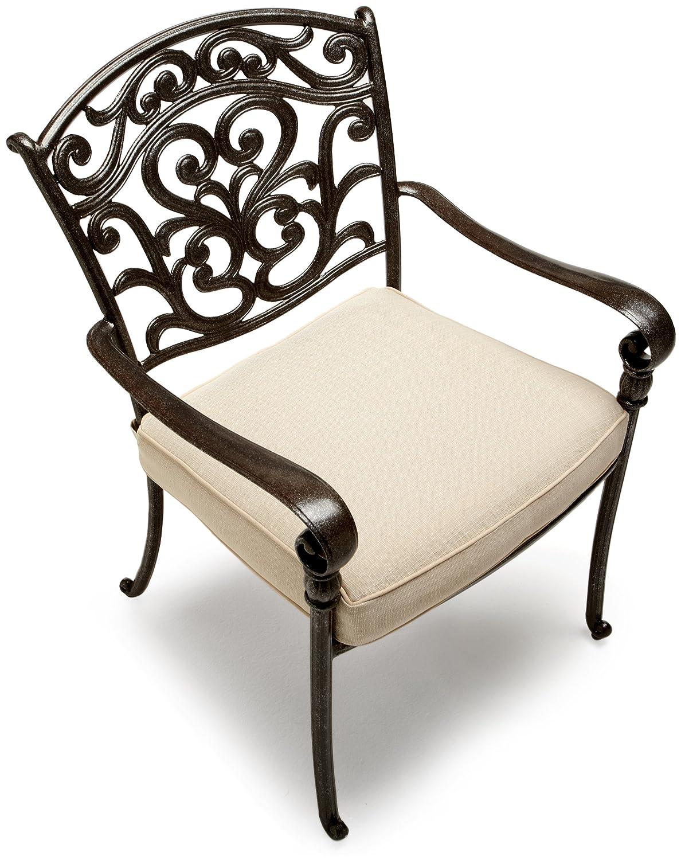 Amazon.com : Strathwood St. Thomas Cast Aluminum Dining Arm Chair, Set Of 2  : Patio Dining Chairs : Garden U0026 Outdoor