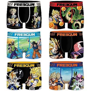 FREEGUN Packs Dragon Ball Z 92% poliéster, 8% Elastano - en Box de la colección - Hombre e Infantil - impresión Sublimada