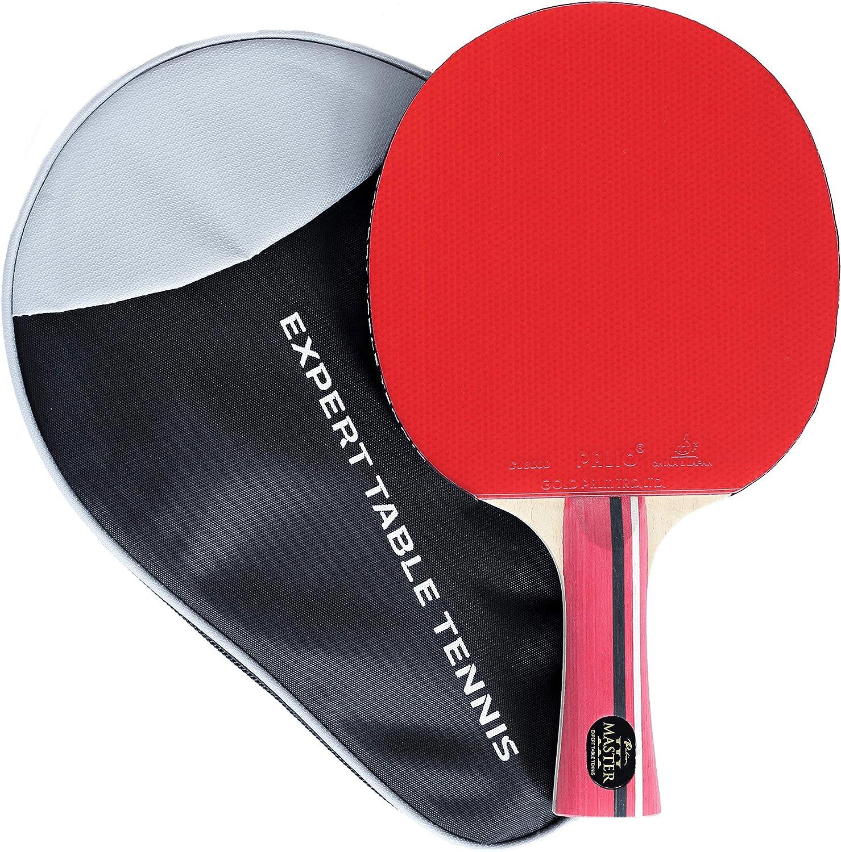 Palio Master 3.0 - Raqueta de Tenis de Mesa y Funda - Aprobado por la ITTF - Acampanado - intermedio Ping Pong, Pala, Bate