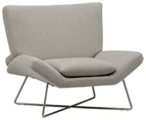 Rivet Farr Lotus Accent Chair, Felt Grey
