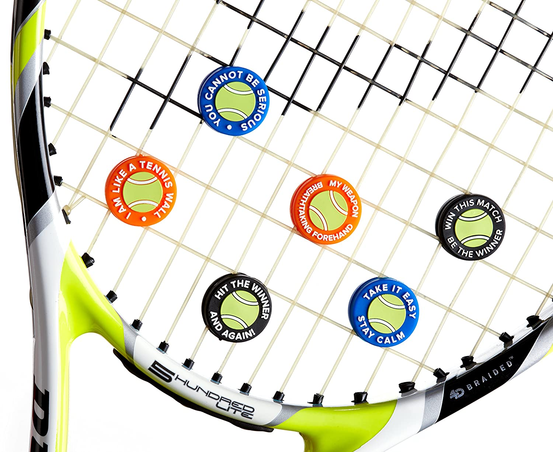BusyBee Amortiguador de Vibraciones en con Bolsa de Zipper Divertida. El Mejor Amortiguador para Tu Raqueta de Tenis (Pack de 6) además un Bonus: Exclusiva ...