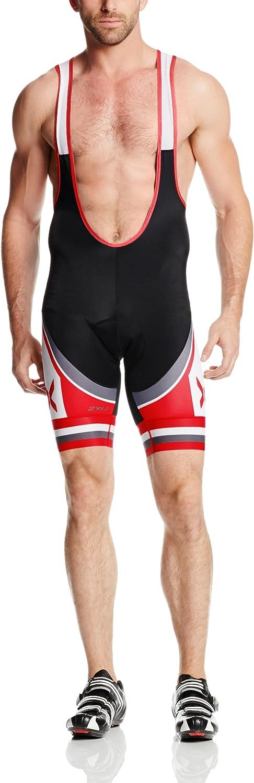 2XU Mens Sublimated Cycle Bib Short