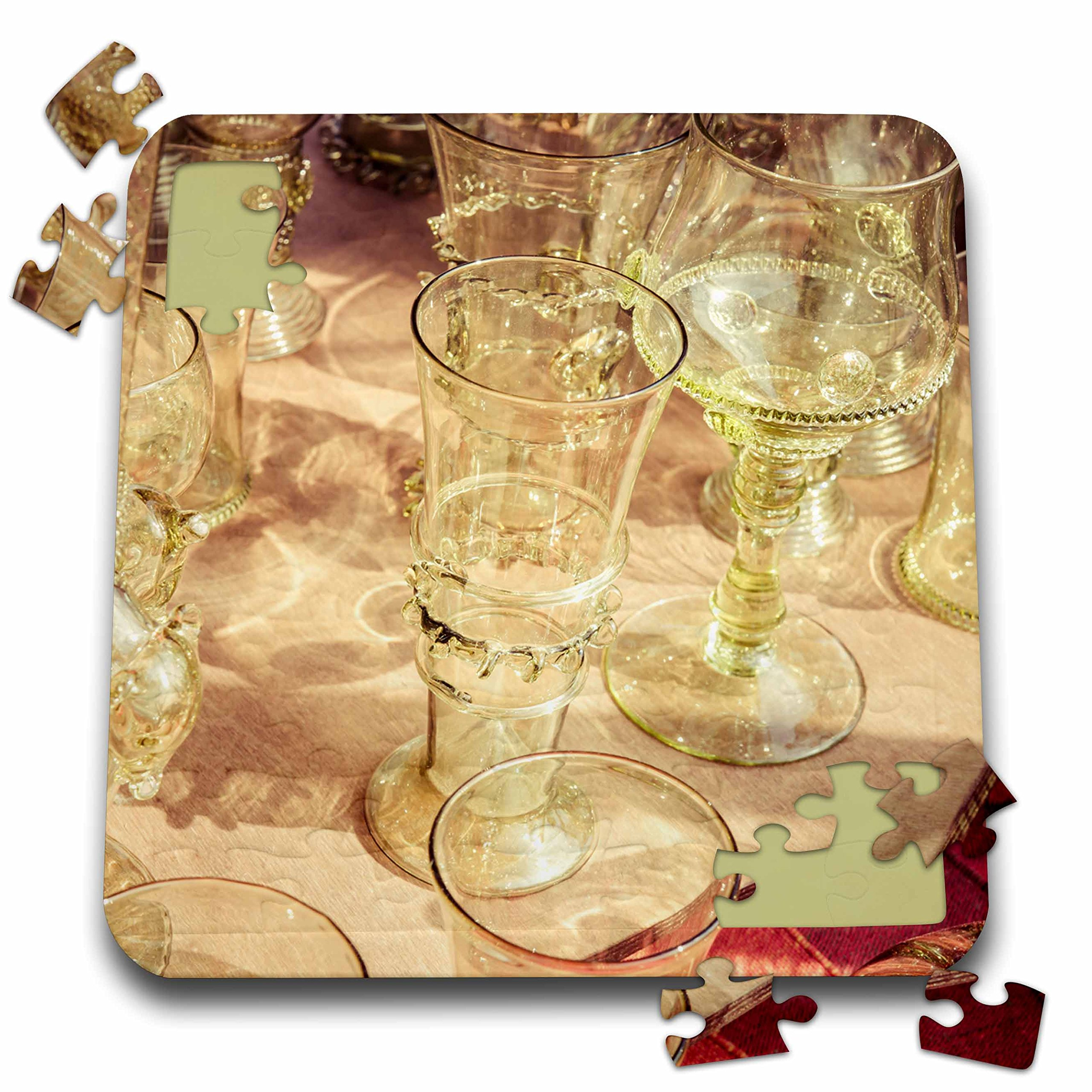 3dRose Alexis Photography - Objects - Beautiful vintage wine glasses. Stylized photo - 10x10 Inch Puzzle (pzl_270825_2)