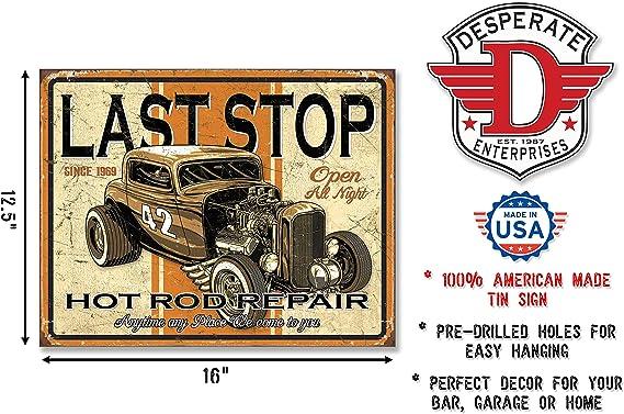 "Retro Style Hot Rod Repair Advertising Sign 10x8/"" Lightweight Metal"