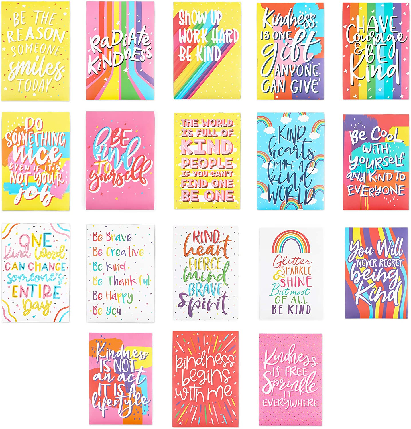 Kindness Posters Classroom and Wall Decor for Teachers (13 x 19 Inches, 20 Pack)