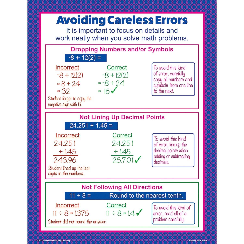 Amazon Mcdonald Publishing Mc P085 Avoiding Math Errors