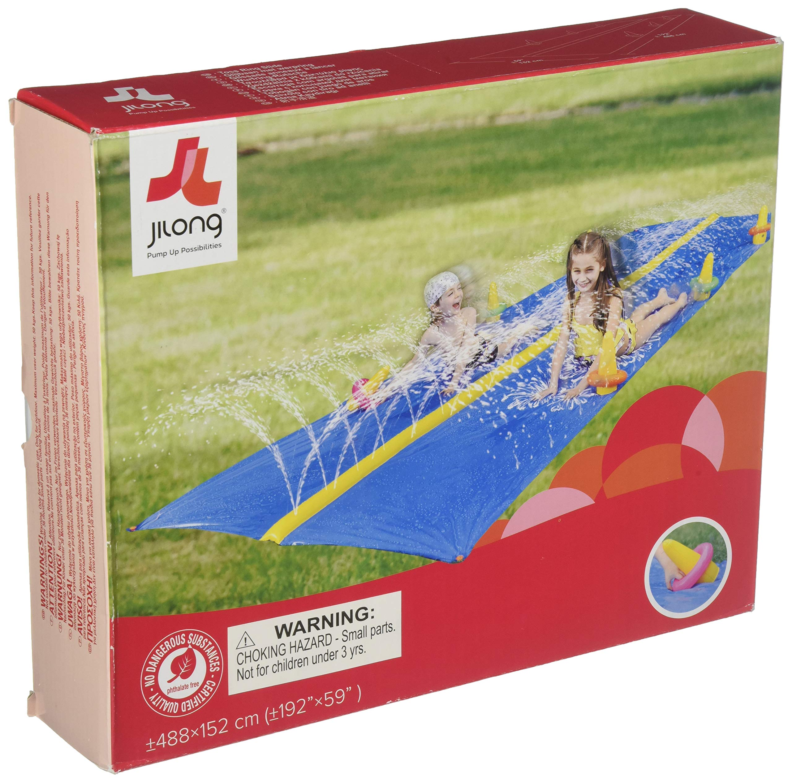 Jilong Ring Toss 2-Person Kids Water Slide for Ages 5+ by Jilong