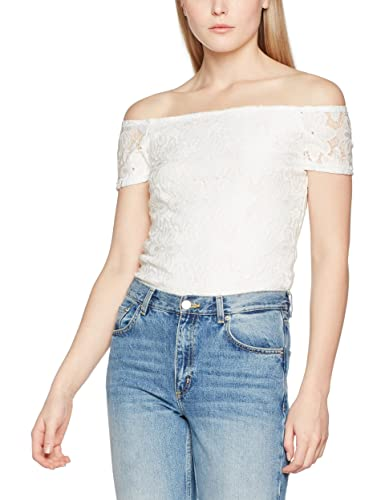 Dorothy Perkins Lace off The Shoulder, T-Shirt Donna