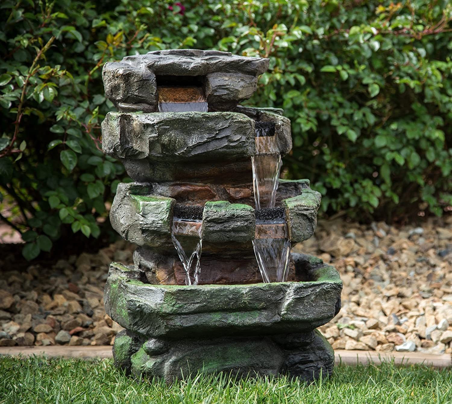 Rock Water Fountains: Wilson Rock Fountain: Stunning Outdoor Water Feature For