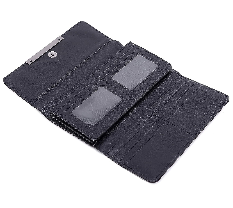 Billetera Geométrico Cartera Moda Enrejado Luminoso Tríptico Larga Sección Billetera para Mujer NO.1: Amazon.es: Equipaje