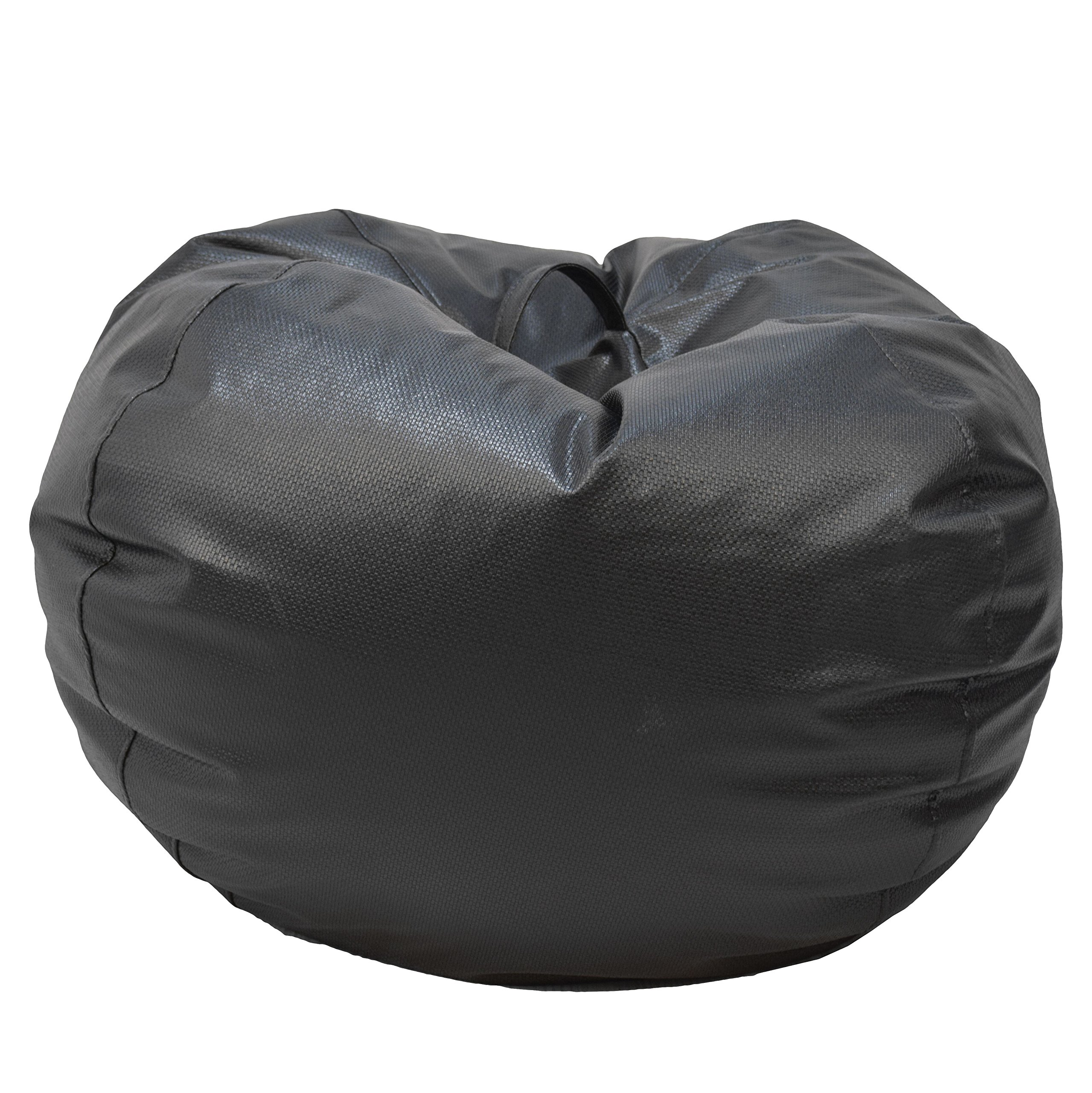 Ace Casual 1082001 Casual Basket weave Round Bean Bag Chair, Jumbo, Black