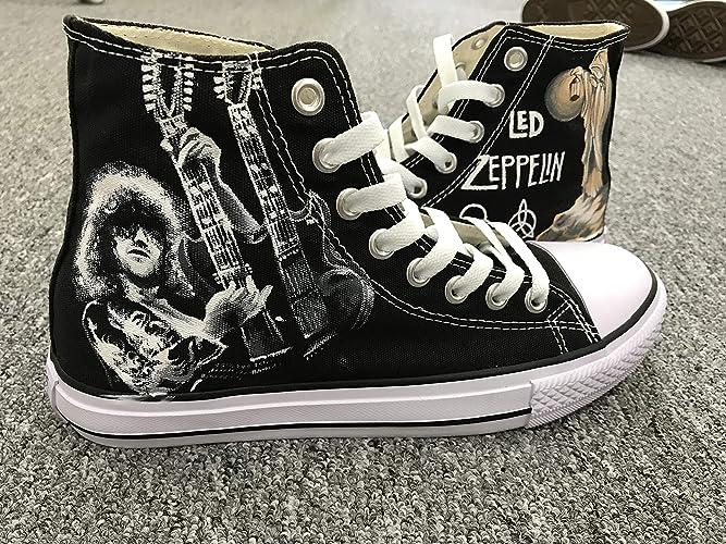 : Men Women Sneakers Led Zeppelin Jimmy Page Hand