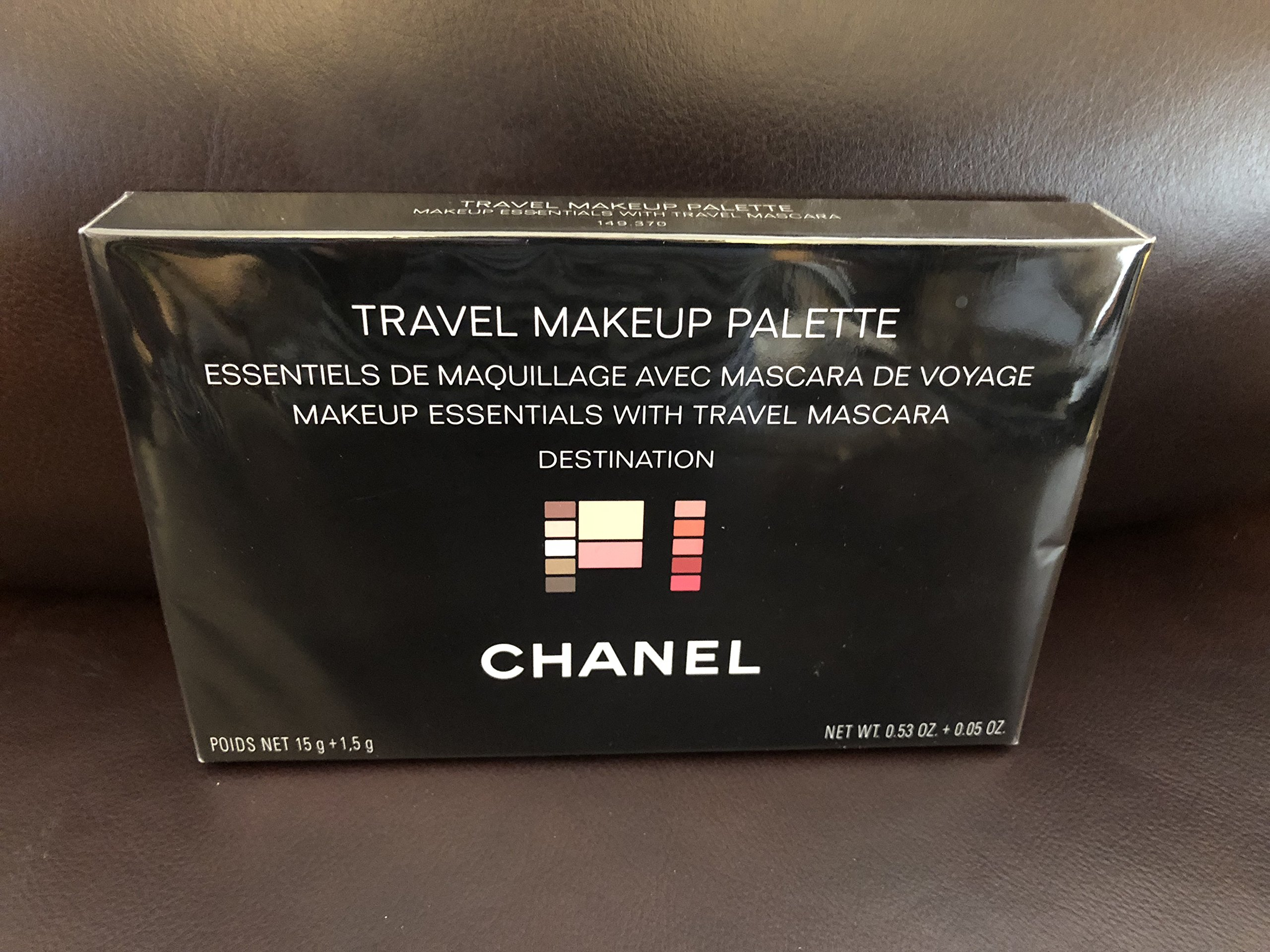 C H A N E L Travel Makeup Palette- makeup essentials with travel mascara destination