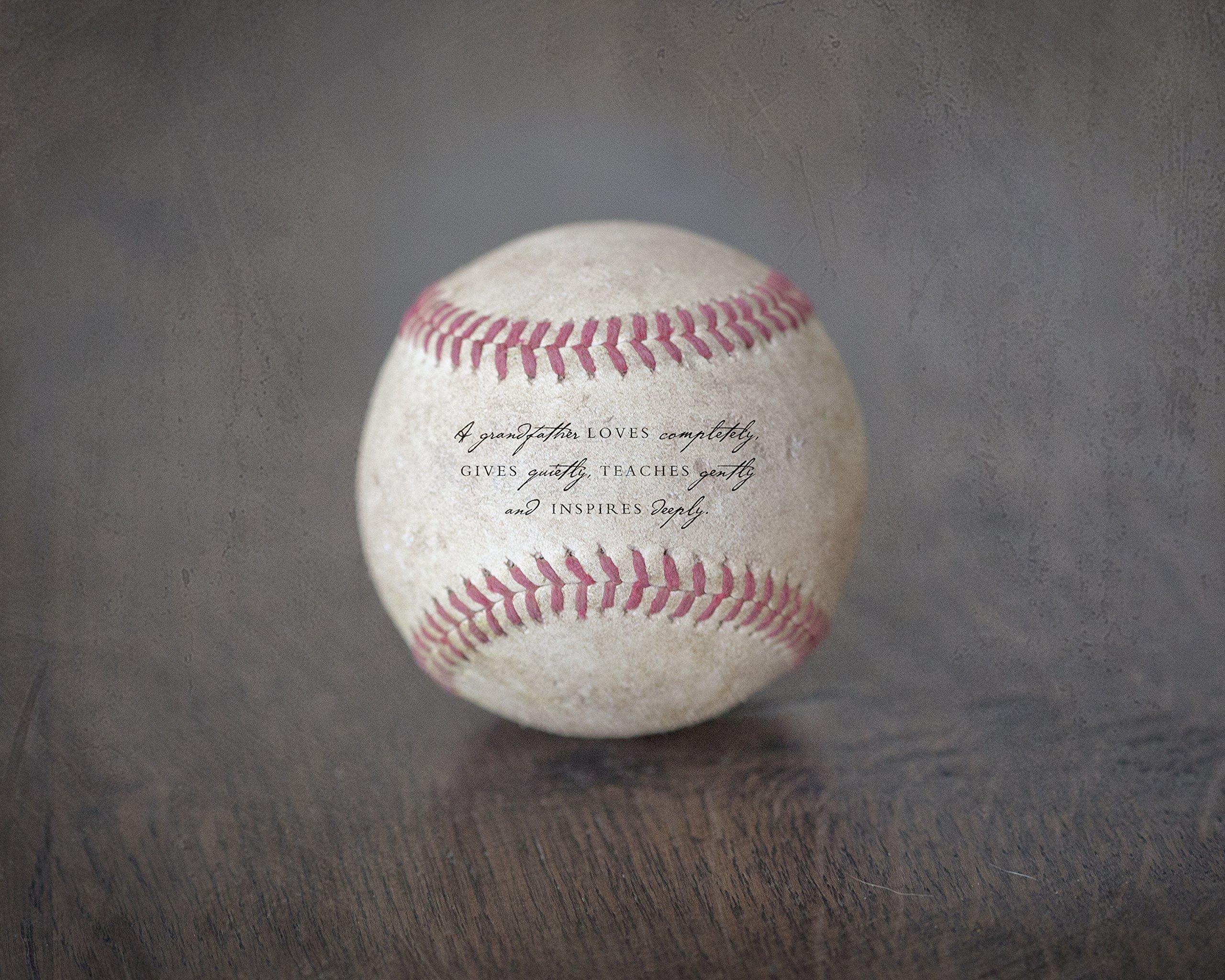Grandfather Quote Baseball Sports Art Print, Unique Gift for Grandpa from Grandkids