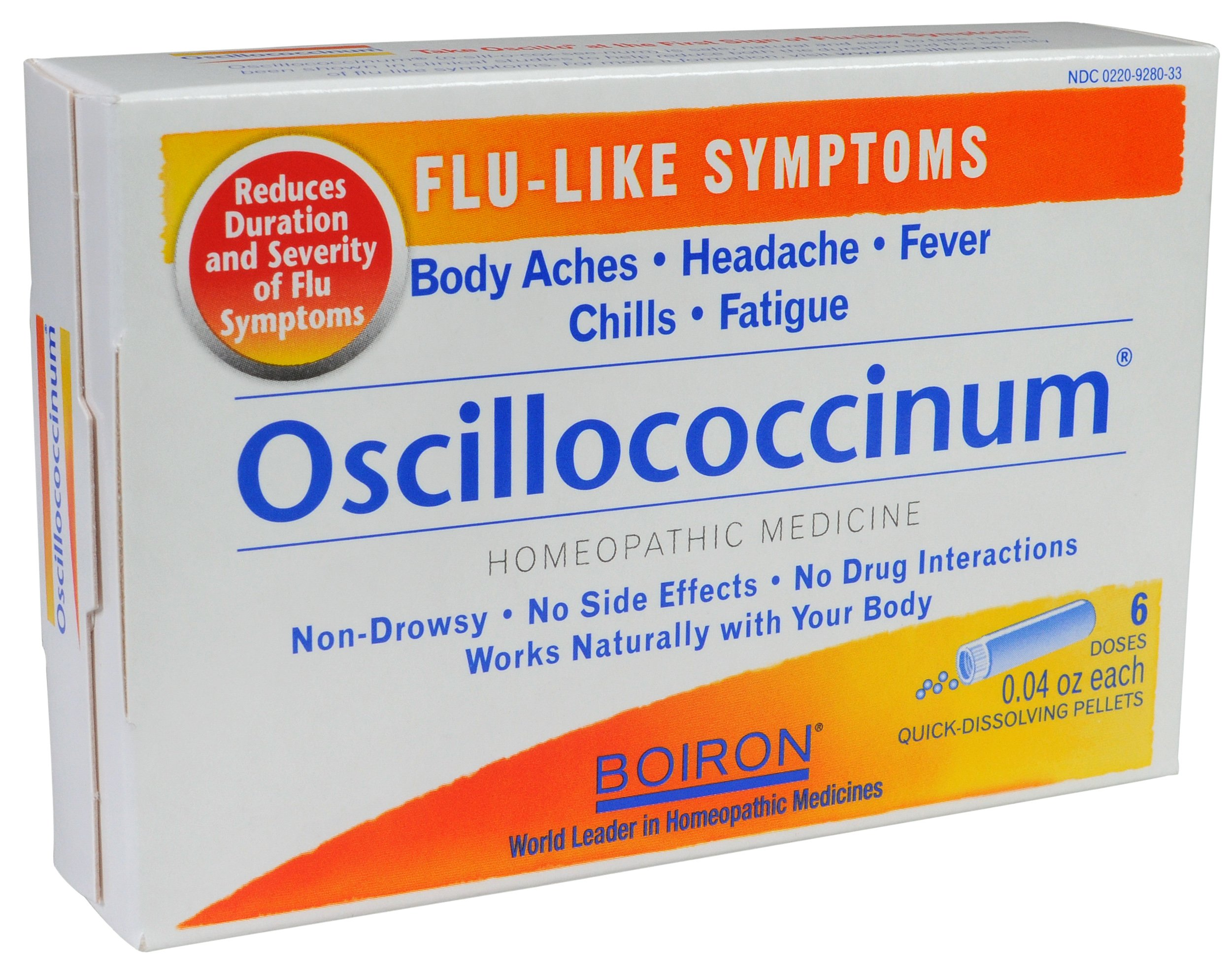 Boiron Oscillococcinum, 0.04 Ounce, 6 Doses (Pack of 2), Homeopathic Medicine for Flu-like Symptoms
