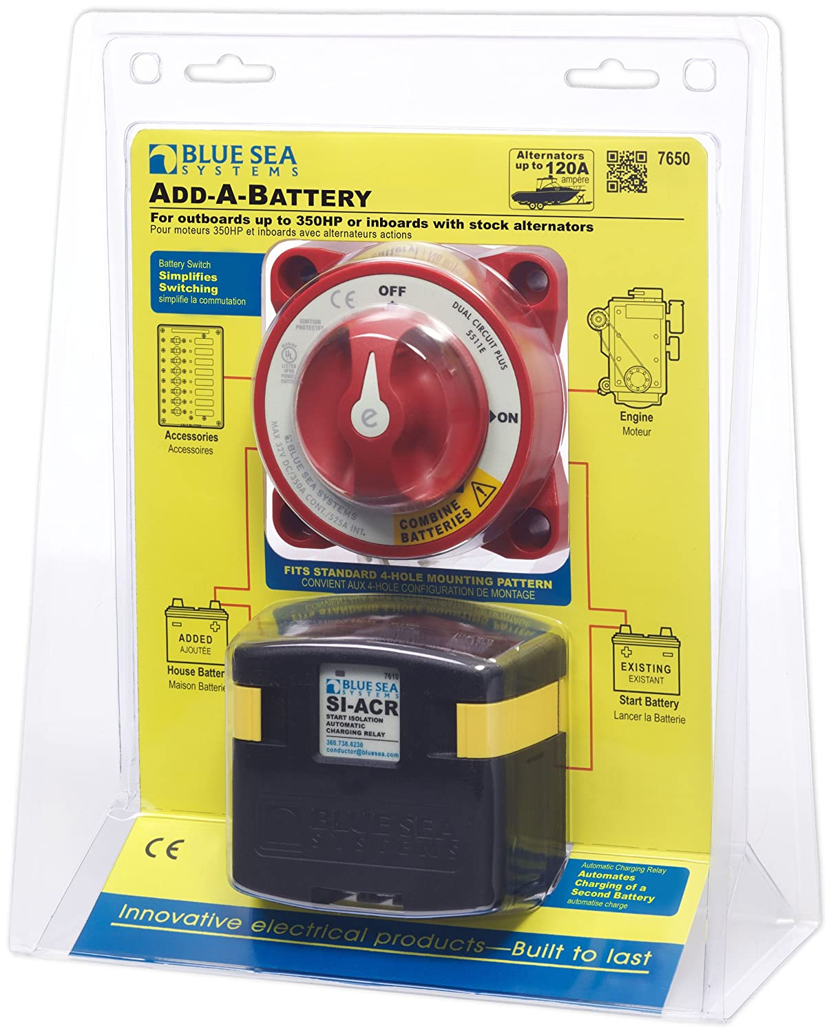 Amazon.com : Blue Sea Systems 7650 Add-A-Battery Kit : Automotive Battery  Products : Sports & Outdoors
