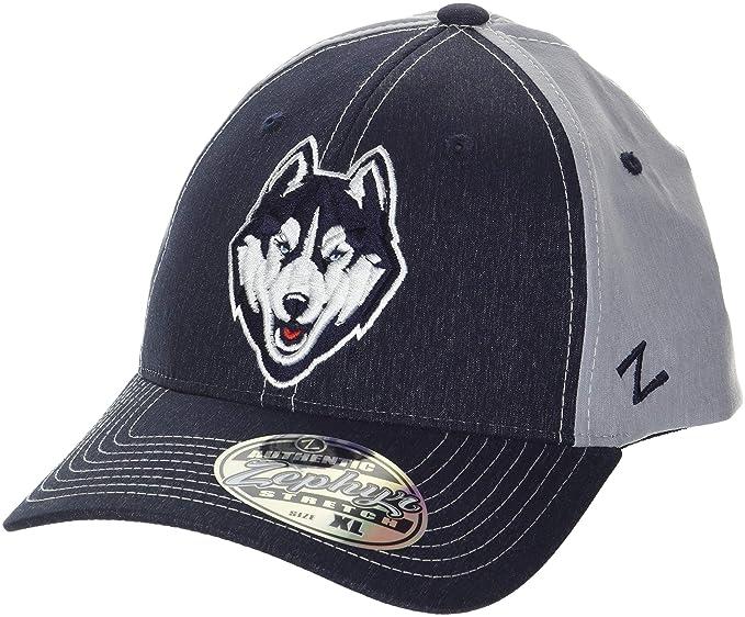 46d5816bb509d6 ZHATS NCAA Connecticut Huskies Men's Clash Waterproof Performance Cap,  Medium/Large, ...