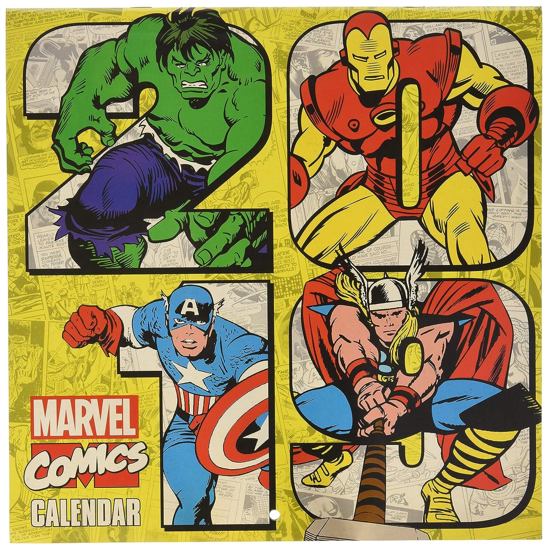 Grupo Erik editores cp19038 – Calendar 2019 Marvel Comics, 30 x 30 cm
