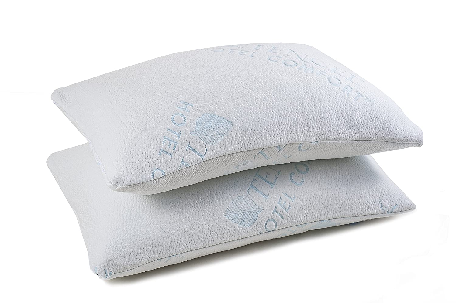 Hotel Comfort Shredded Memory Foam Pillow with Bamboo Cover