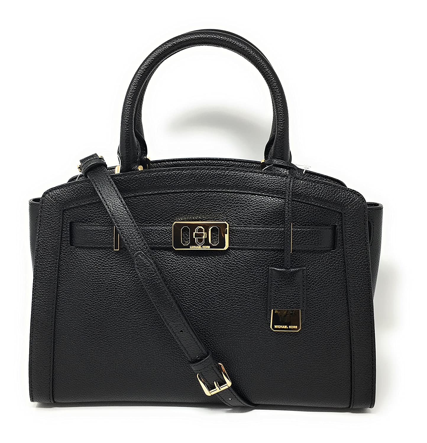 bb47a2a75c9a7f Michael Kors Karson Large Satchel Black: Handbags: Amazon.com