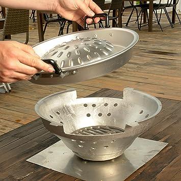 THAI/coreano tablero de la mesa gris barbacoa juego de barbacoa 30,48 cm