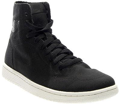 a0aa56c7dc92 Nike Mens Air Jordan 1 Retro High Deconstructed Black Black Black-Sail  Canvas Size