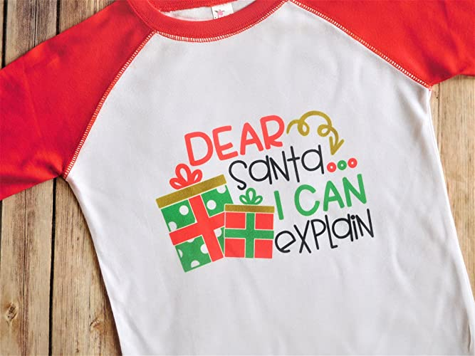 3c2e79f98578a Amazon.com: Toddler Christmas Shirt - 3/4 Length Red and White ...