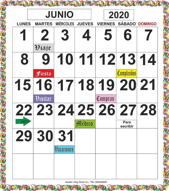 Calendario magnético nevera perpetuo: Amazon.es: Handmade