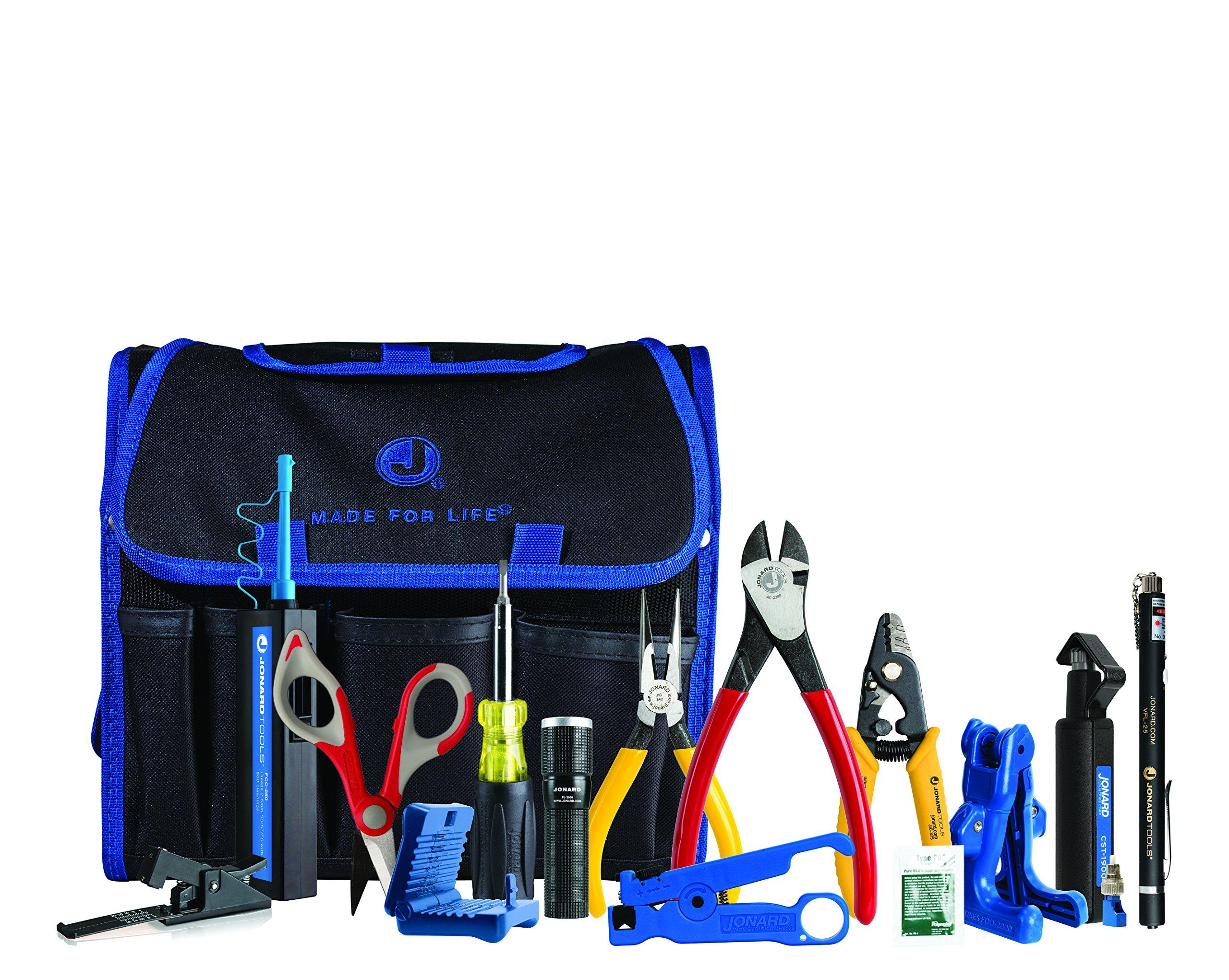 Jonard Tools TK-150 Fiber Prep Kit (15 Piece Kit)