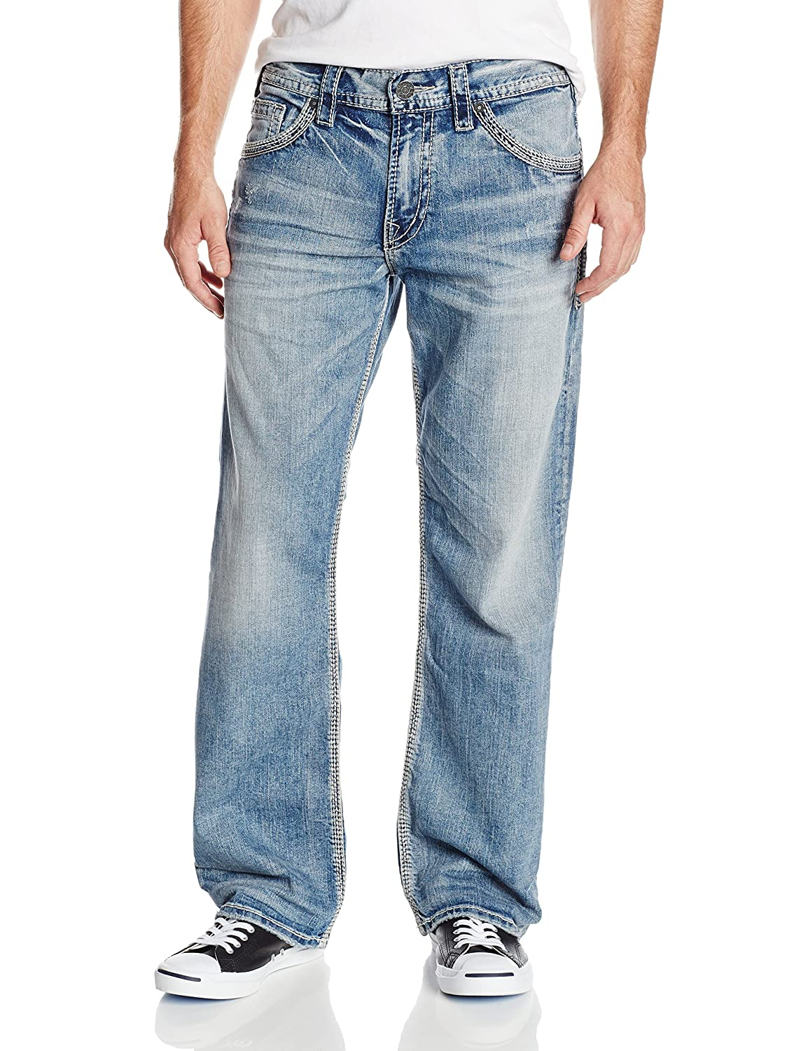 Silver Jeans Men's Zac Relaxed-Fit Straight-Leg Jean at Amazon ...