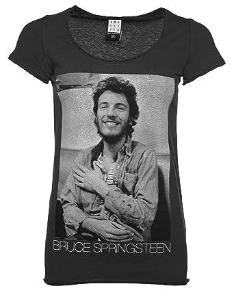 Vintage Gris T Femme Springsteen De Amplified Ardoise Shirt Bruce e9IEYWHD2