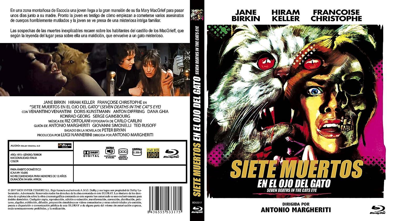 Siete Muertos en el Ojo del Gato BD 1973 La morte negli occhi del gatto Seven Dead in the Cats Eye Blu-ray: Amazon.es: Hiram Keller, Françoise Christophe, ...