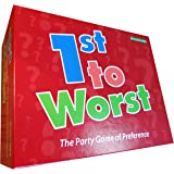 Wild Card Games 1ST TO WORST! – The classic multi player party game of preference where you guess a players preferred order from 3 choices