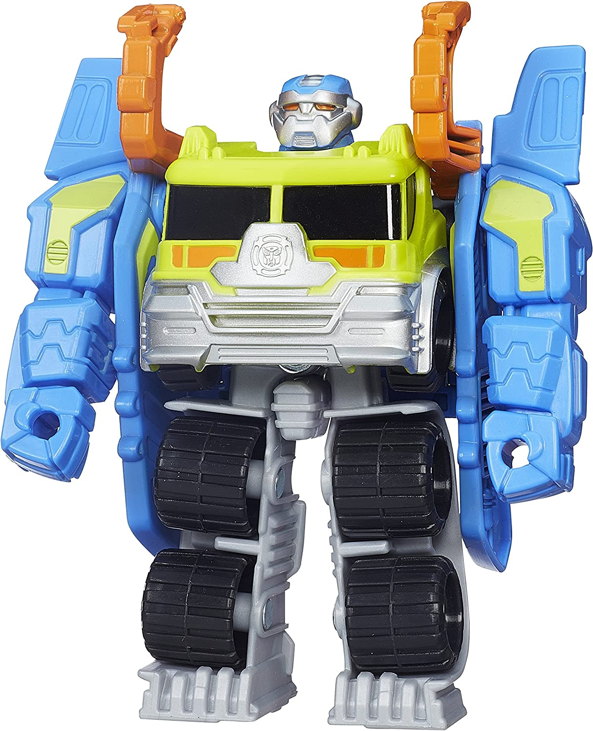 Amazon Com Playskool Heroes Transformers Rescue Bots Salvage The Construction Bot Figure Toys Games