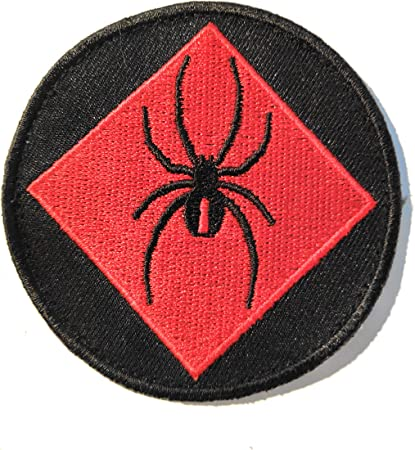 Titan One Europe Tactical Red Spider Ara/ña Roja Parche Bordado T/áctico